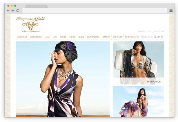 Turqouise & Gold - Luxury resort and beach wear clothes